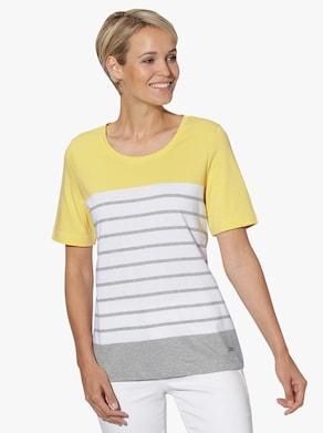 Collection L Shirt - gelb-grau-gestreift