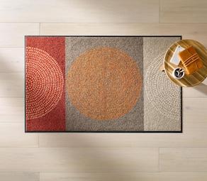 Salonloewe Fußmatte - rot-braun