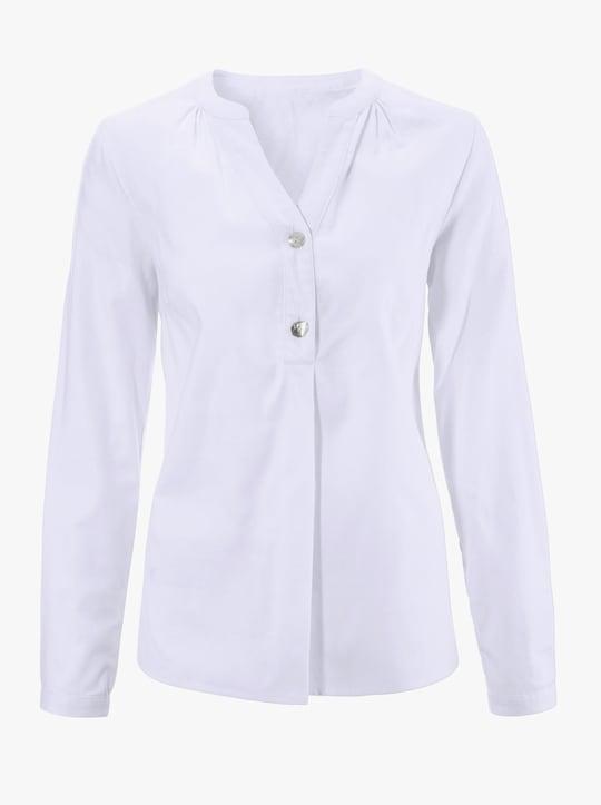 Flanellen blouse - wit