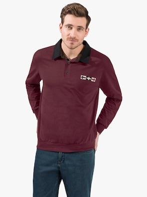 Langarm-Shirt - bordeaux