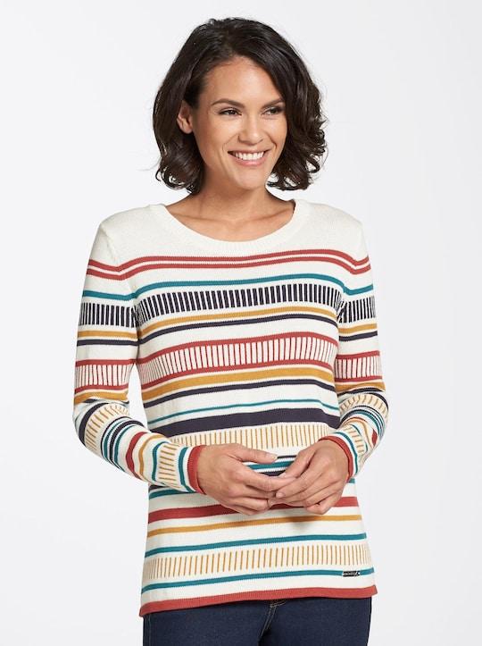 Collection L Pullover - bunt-geringelt