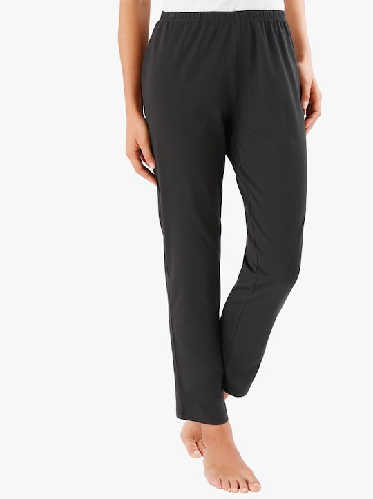 Doppelpack Jerseyhosen - schwarz + grau-meliert