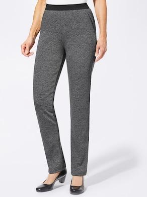 Jersey-Hose - schwarz-grau-meliert