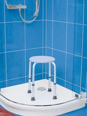 Duschhocker - weiß