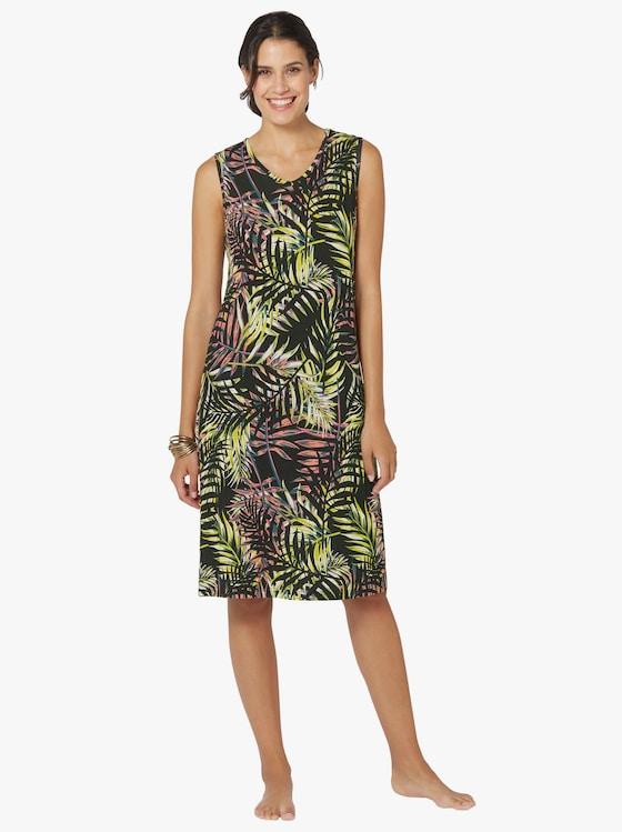 Sommerkleid - schwarz-grün