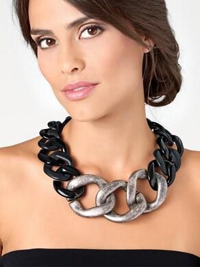 heine Collier - zwart/zilverkleur