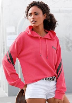 Bench. Kapuzensweatshirt - pink-schwarz
