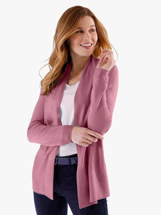 Pletený kabátek - starorůžová