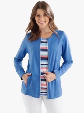 Shirtjacke - blau