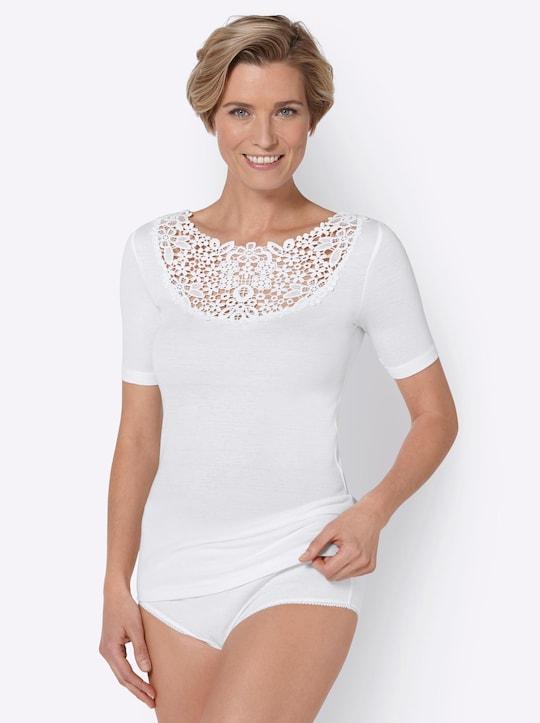 wäschepur Blazershirt - weiß