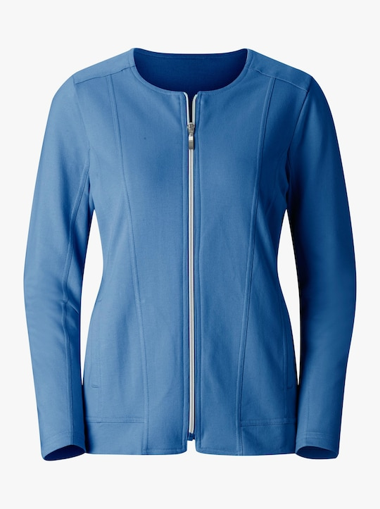 Collection L Shirtjacke - blau