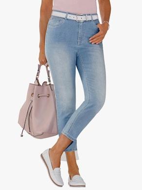 Collection L 7/8 džínsy - bielená modrá