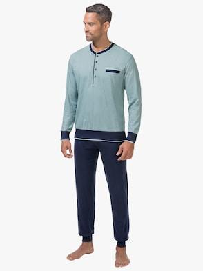 Schlafanzug - mint-marine
