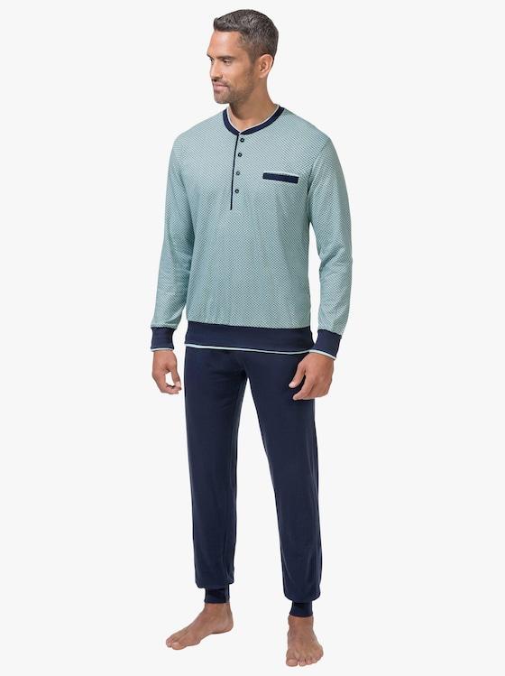 pastunette Schlafanzug - mint-marine