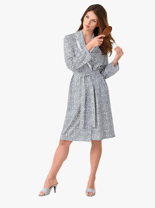 wäschepur Morgenmantel - weiß-grau