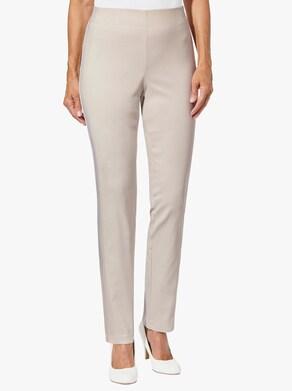 Stehmann Comfort line Pohodlné kalhoty - kamenná-bílá