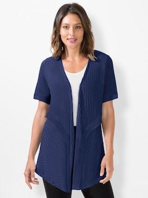 Shirtjasje - nachtblauw