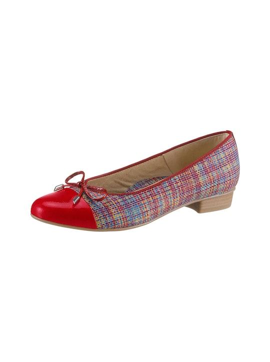 ARA Ballerina - rot-gemustert