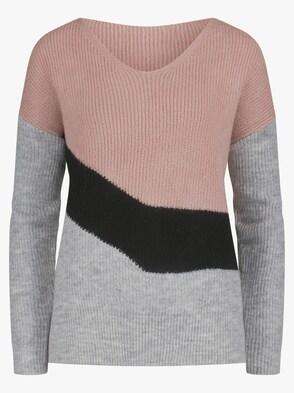 Pullover - puder-grau-meliert
