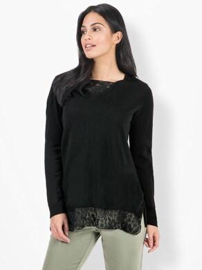 Longpullover - schwarz