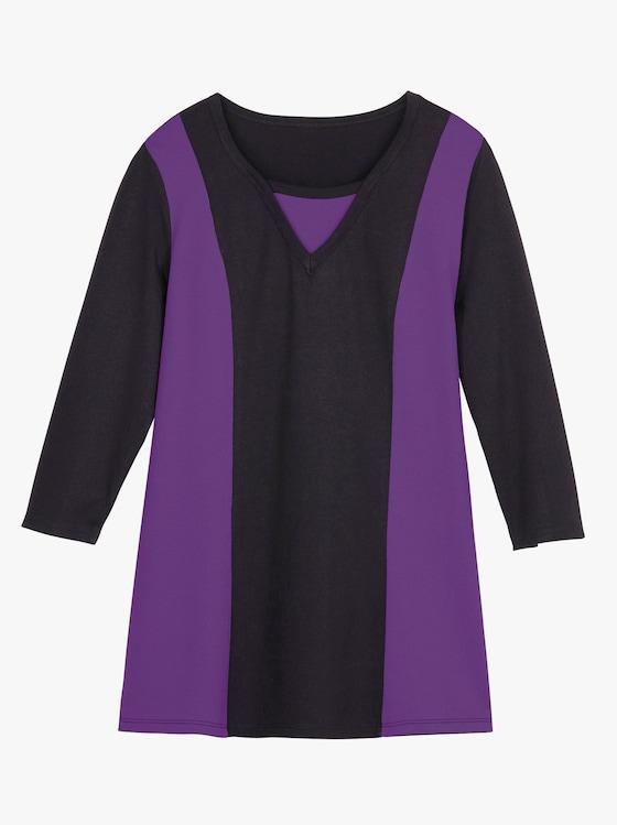 Shirt - zwart/paars