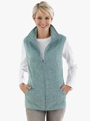 Fleece-Weste - mint-meliert