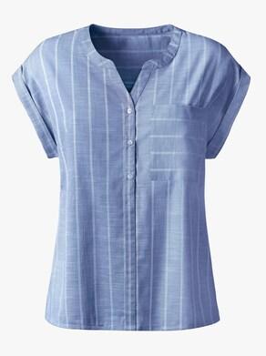 Collection L Blus - himmelblå, randig