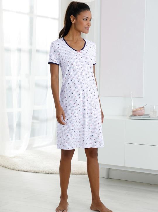 Ringella Sleepshirt - weiß-bedruckt
