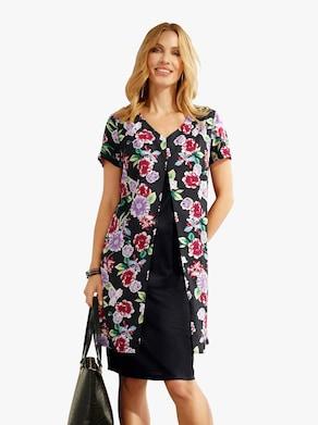 Kleid - schwarz-gemustert