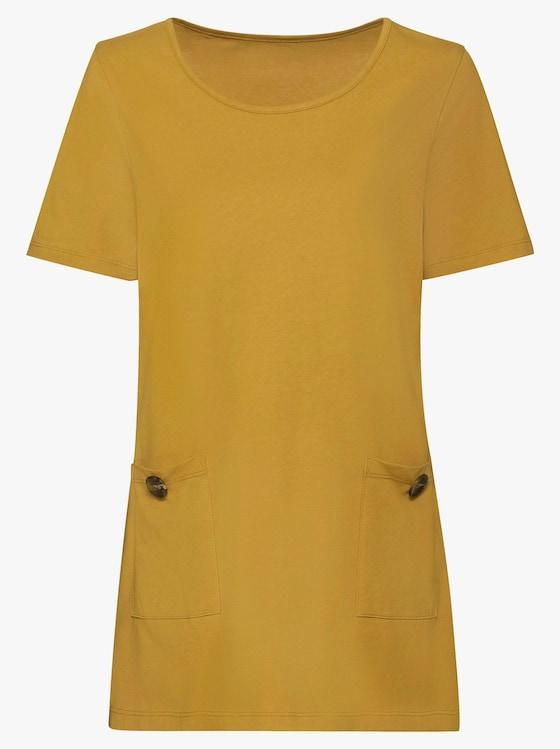 Lang shirt - maïsgeel