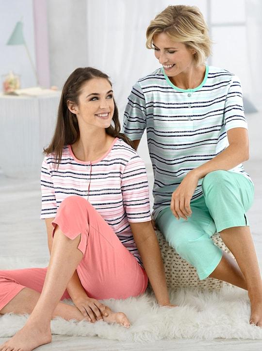 wäschepur Schlafanzüge - mint + apricot