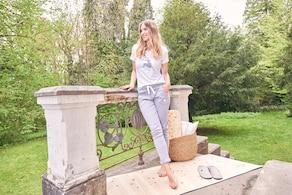 Louis & Louisa Trachtenhose - grau-weiß