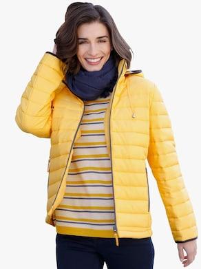 Prošívaná bunda - žlutá