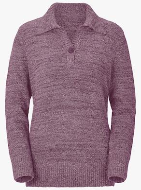Pullover - fuchsia-meliert