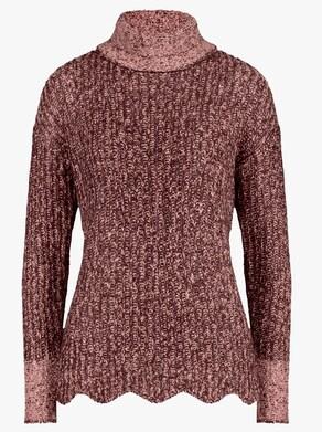 Pullover - burgund-rosenholz
