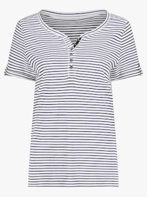 Shirt - schwarz-weiß-gestreift