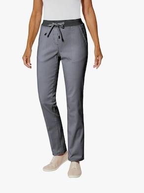 Kalhoty - námořnická modrá-proužek