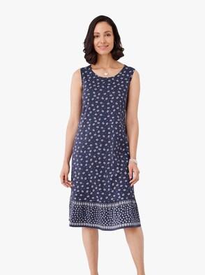 Jersey-Kleid - nachtblau