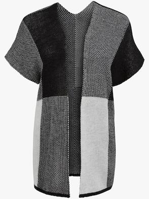Strickjacke - schwarz-grau