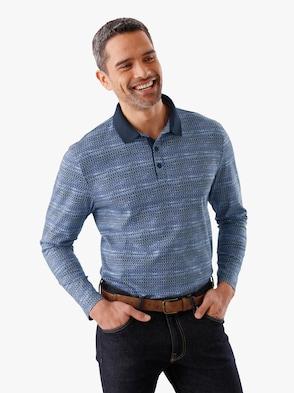 Poloshirt - blau-bedruckt