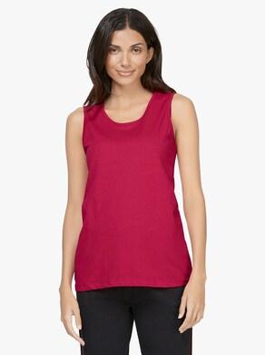 Tričkový top - červená