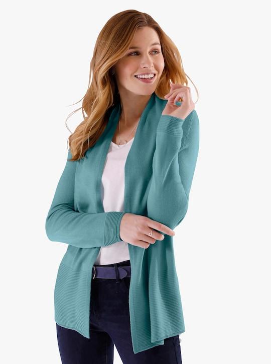 Pletený kabátek - oceánově modrá