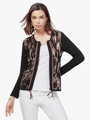 Shirtjacke - schwarz-bronze