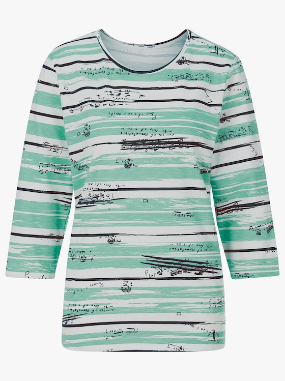 Shirt - mint-gestreift
