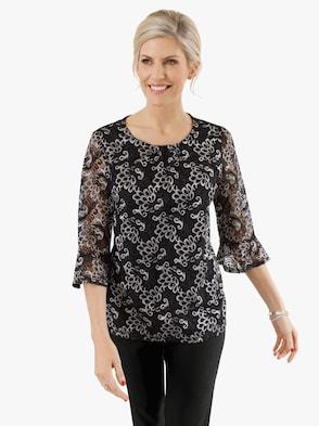 Shirt - schwarz-silberfarben