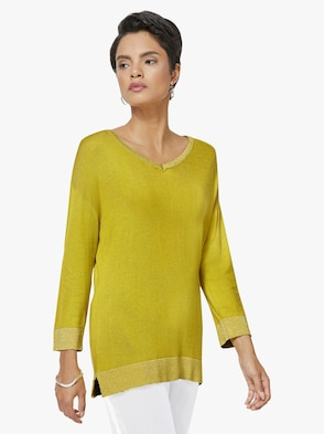 Pullover - gelbgrün