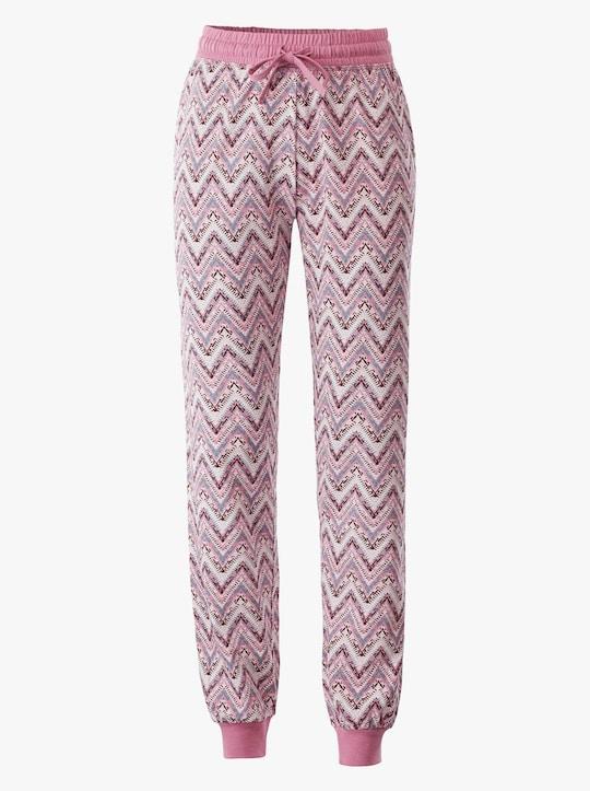 wäschepur Schlafanzug-Hose - rosé-zick-zack