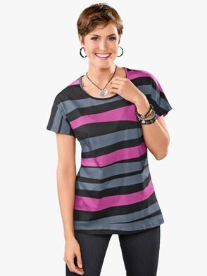 Tričko - pink-černá