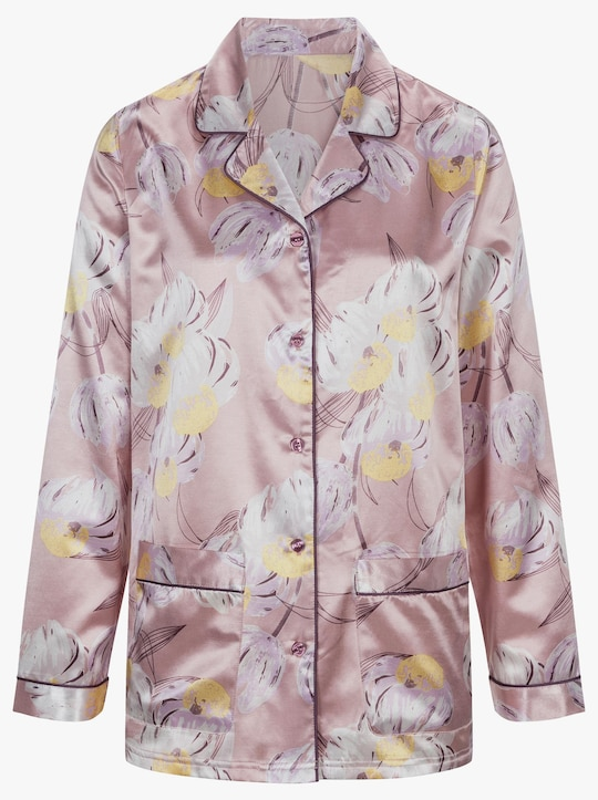 wäschepur Pyjama - mauve-bedruckt