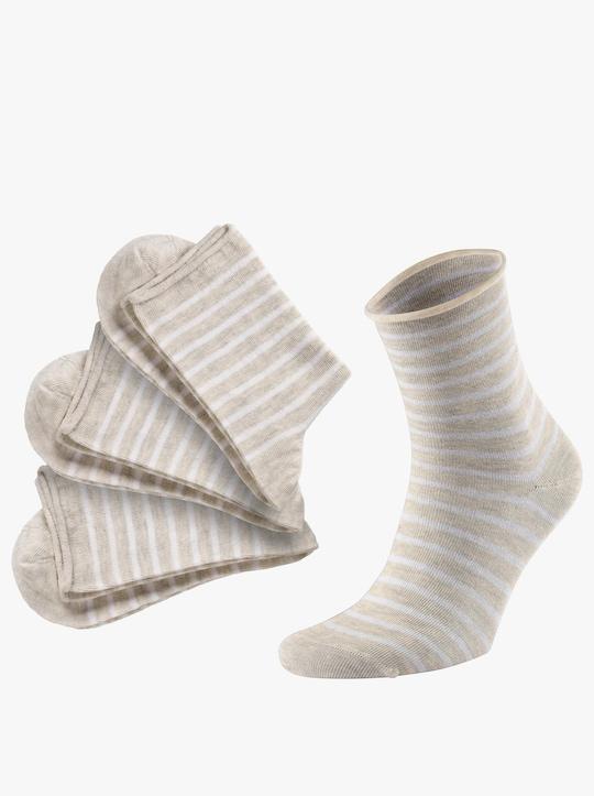 wäschepur Dámské ponožky - béžová-melír
